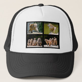 Mosaic photos of baboons trucker hat