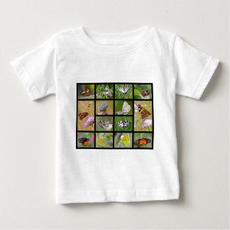 Mosaic photos of butterflies baby T-Shirt