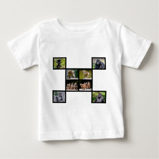 Mosaic photos of monkeys baby T-Shirt