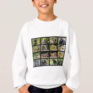 Mosaic photos of monkeys sweatshirt