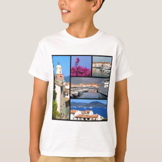 Mosaic photos of Saint Tropez in France T-Shirt