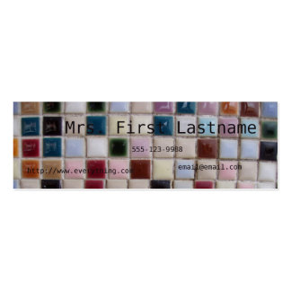 Mosaic Profile Card Double-Sided Mini Business Cards (Pack Of 20)