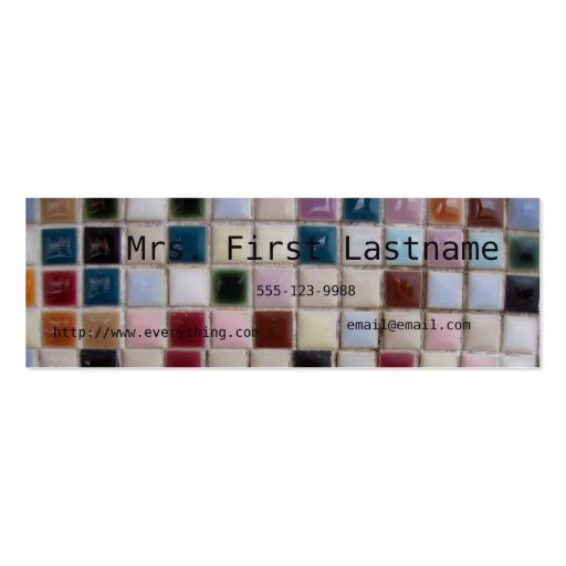 Mosaic Profile Card Business Cards