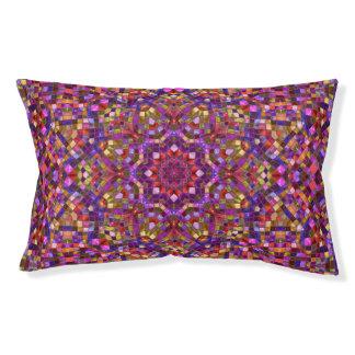 Mosaic Purple Pattern  Vintage Dog Bed