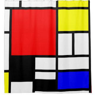 MOSAIC rectangles squares colored / De Stijl 1 Shower Curtain