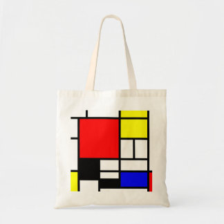 MOSAIC rectangles squares colored I + your ideas Budget Tote Bag