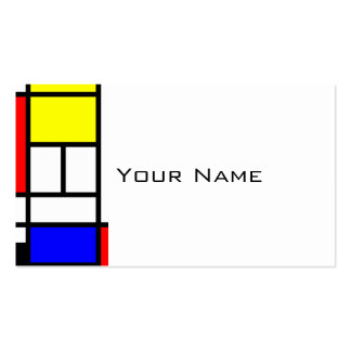 MOSAIC rectangles squares colored I + your ideas Business Card Template