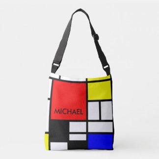 MOSAIC rectangles squares colored I + your ideas Crossbody Bag