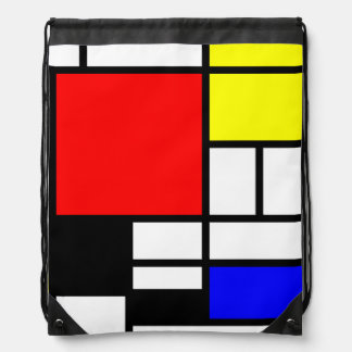 MOSAIC rectangles squares colored I + your ideas Drawstring Bag