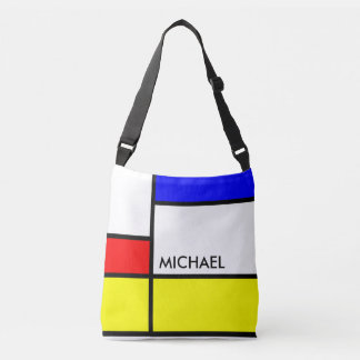 MOSAIC rectangles squares colored II + your ideas Crossbody Bag