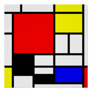 MOSAIC rectangles squares coloured I + your ideas Poster