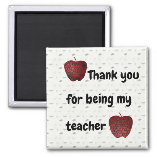 Mosaic Red Apples Thank You For Being My Teacher Magnet