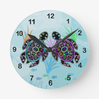 Mosaic Sea Turtle Clock