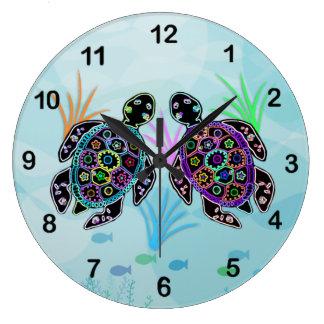 Mosaic Sea Turtle Clock