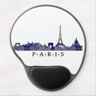 Mosaic Silhouette of Paris Skyline Gel Mouse Pads