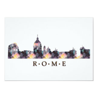 Mosaic Silhouette of Rome Skyline Card