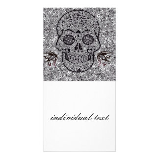 Mosaic Skull Custom Photo Card