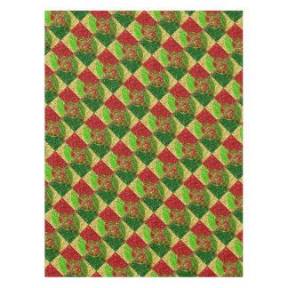 Mosaic Stained Glass Look Happy Holidays Tablecloth