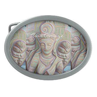 mosaic stone buddhas Thunder_Cove Belt Buckle