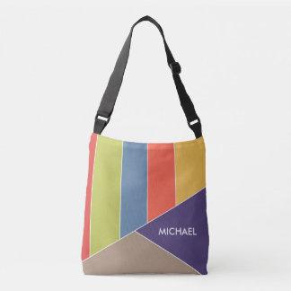 MOSAIC stripes triangles colored I + your ideas Crossbody Bag