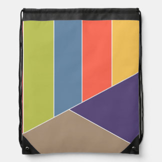 MOSAIC stripes triangles colored I + your ideas Cinch Bags