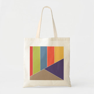 MOSAIC stripes triangles colored I + your ideas Canvas Bags