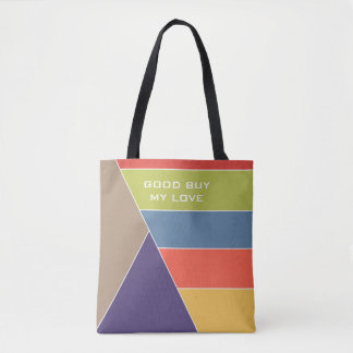 MOSAIC stripes triangles colored I + your ideas Tote Bag