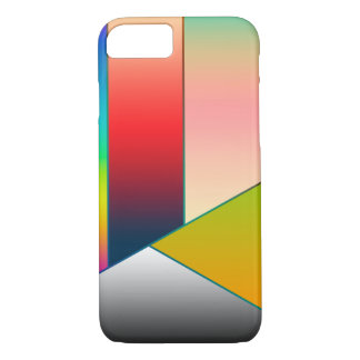 MOSAIC stripes triangles colored II + your ideas iPhone 7 Case