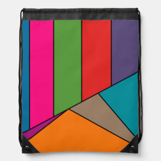 MOSAIC stripes triangles colored III + your ideas Backpacks