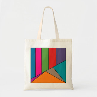 MOSAIC stripes triangles colored III + your ideas Budget Tote Bag