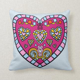 Mosaic Style Heart Designs Pillow