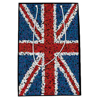Mosaic Style Union Jack Flag Medium Gift Bag
