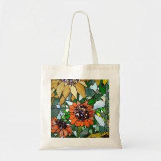 Mosaic Sunflower Budget Tote Bag