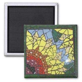 Mosaic Sunflower Magnet