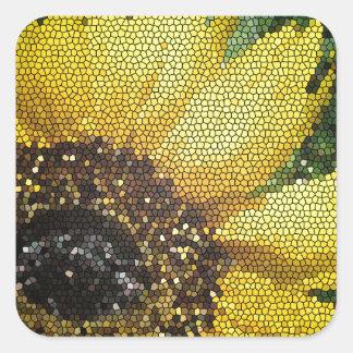 Mosaic Sunflower Square Sticker