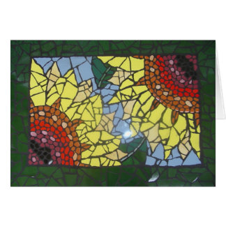 Mosaic Sunflowers Card