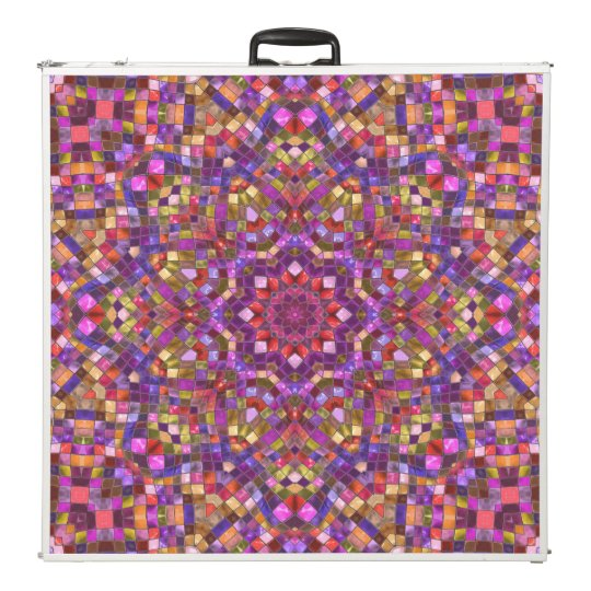 "Mosaic   Vintage Kaleidoscope 96""     Pong Table"