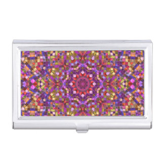 Mosaic Vintage Kaleidoscope Business Card Case