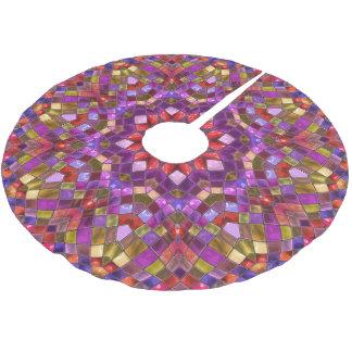 Mosaic Vintage Kaleidoscope  Tree Skirt