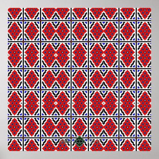 Mosaic Wallpaper ( Large ) Poster