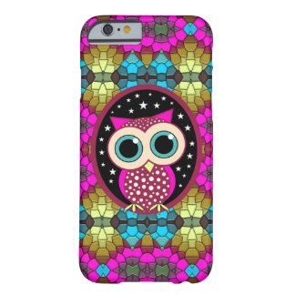 mosaic with pink owl barely there iPhone 6 case