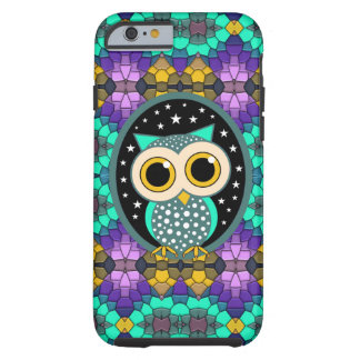 mosaic with turquoise owl tough iPhone 6 case