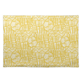 Mosaic yellow placemat