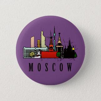Moscow 6 Cm Round Badge