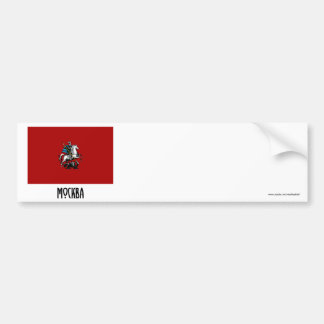 Moscow Federal City Flag Bumper Sticker