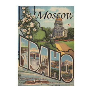 Moscow, IdahoLarge Letter ScenesMoscow, ID Canvas Print
