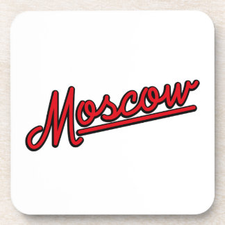 Moscow in red coasters