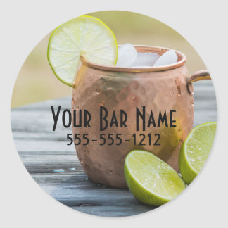 Moscow Mule Advertisement Classic Round Sticker