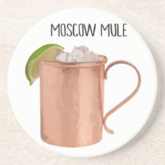 Moscow Mule Copper Mug Geometric Bar Coasters Gift