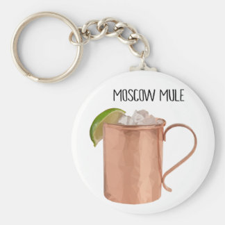 Moscow Mule Copper Mug Low Poly Geometric Design Key Ring